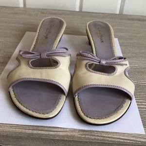 Cole Haan Mules in Cream and Lavender 9.5 AA